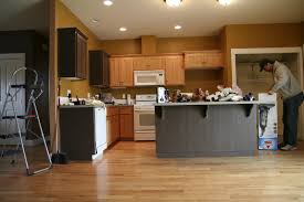 kitchen light wood cabinets cream colored cabinets grey cupboard