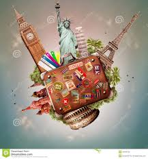 traveling around the world images Travel and trip stock photo image of suitcase traveler 34848158 jpg