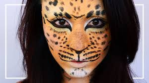 Cheetah Face Makeup For Halloween Leopard Cheetah Makeup Tutorial Shelingbeauty Youtube