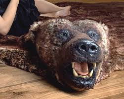 Fake Lion Skin Rug With Head Grizzly Bear Rug With Head Rugs Ideas