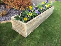 wooden trough planter narrow planters trough planters the oli