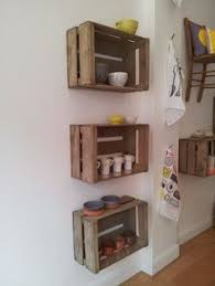 Wooden Crate Shelf Diy by I Love This Idea These Crates From The Local Craft Store Wood