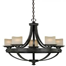 Jeremiah By Craftmade Lighting H0135 Halifax 5 Light Chandelier In Aged Walnut With