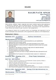sample resume heavy equipment operator 0raghunathsingh c v 4