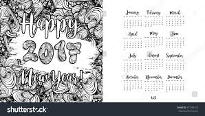 happy new year 2017 hand drawn stock illustration 477359128