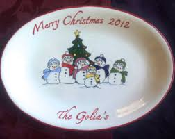 personalized platter custom christmas platter personalized platter gift for