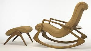 Sofa Modern Chair And Footstool Fuschia Fonky - Design rocking chair