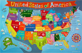 United States Map Delaware by Kid U0027s United States Wall Map
