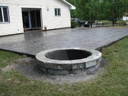 Concrete Patio Designs Layouts Concrete Patio Ideas With Pit Concrete Patio