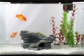 fish rock aquarium resin rockery fish tank hiding cave landscaping