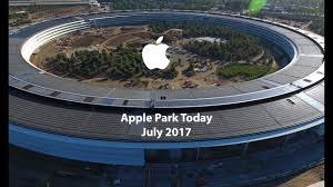 apple campus 2 apple park july 2017 4k drone the of steve