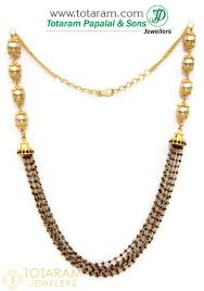 beaded gold chain necklace images 22k gold chain necklace with black diamonds south sea pearls jpg