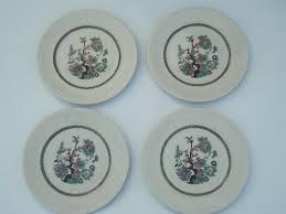 vintage shenango stafforshire india tree china plates indian tree