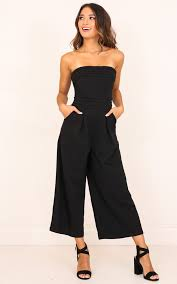 jumpsuit in up ahead jumpsuit in black showpo