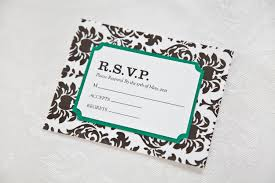 how to rsvp a wedding invitation without response card u2013 bernit bridal