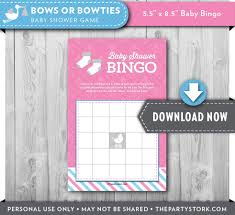 gender reveal party baby shower bingo game printable bingo
