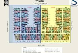 smdc s residences smdc s residences mall of asia condo tower 1 floor plan