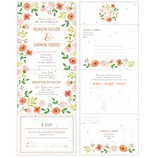 Seal And Send Wedding Invitations Painterly Florals Seal And Send Invitation Seal And Send Wedding