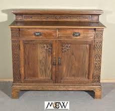 Solid Oak Buffet by Antique Solid Oak Buffet Sideboard Server W Drawers Antique