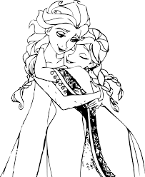 elsa anna coloring page frozen anna falling in love with hans
