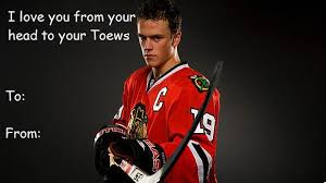 hockey valentines cards hockey s day card jonathan toews of course this only