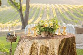 metallic neutral gold for chic summer weddings event decorating