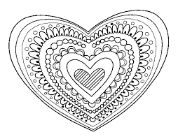 coloring page heart mandala color online coloringcrew 565096