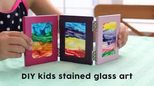diy kids stained glass art youtube