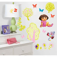 walltastic pink mermaids wall stickers wt45040 the home depot dora the explorer peel and stick wall decals