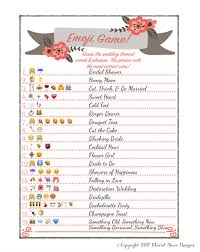 bridal shower emoji game fun unique games diy pdf wedding steve