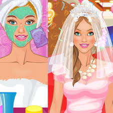 here is a great makeover game for you and it es with beauty and colors all play princess bride wedding salon