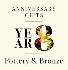 Your All Encompassing Guide To Our Guide To Eighth Anniversary Gifts From Stoneware To Sculpted