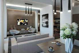 modern apartment decorating grey color plush rug black brown