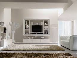 beautiful wall mount tv shelves and cabinet for cozy white living
