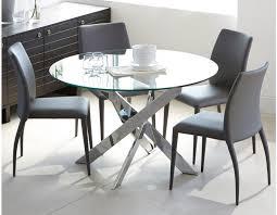 table en verre cuisine table ronde en verre cuisine naturelle