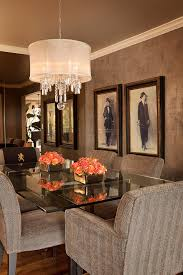 Dining Room With Chandelier Drum Shade Chandelier In Different Dining Rooms To Try Traba Homes
