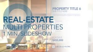 real estate multi properties 1min slideshow after effects