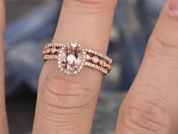 wedding ring order custom order oval morganite 14k gold engagement ring and