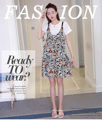 buy floral overall dress set wear sally fashion malaysia