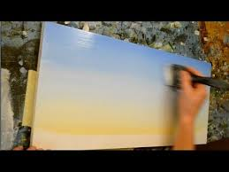 how to paint a sky acrylic painting lesson youtube