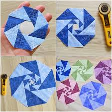 patchwork quilt pattern for a modern geometric quilt