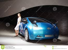 toyota stock symbol blue concept car from toyota motor corporation editorial stock