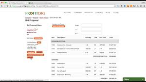 construction bid software create a construction bid in 11 minutes with profitdig