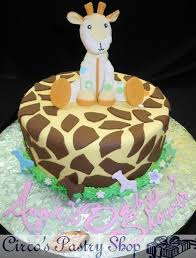 giraffe baby shower cake italian bakery fondant wedding cakes pastries and