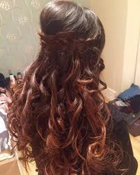poof at the crown hairstyle braided poof open hairstyle long indian hairstyles step by step