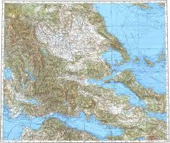 volos map topographic map in area of patrai larsia volos