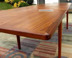table scandinavian teak dining room furniture rustic table