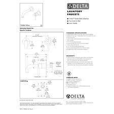 delta trinsic wall mount lavatory faucet
