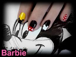 mickey mouse nails by barbienailart on deviantart