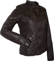 light brown vest womens ladies leather jacket fashion sheepskin nappa leather colour dark